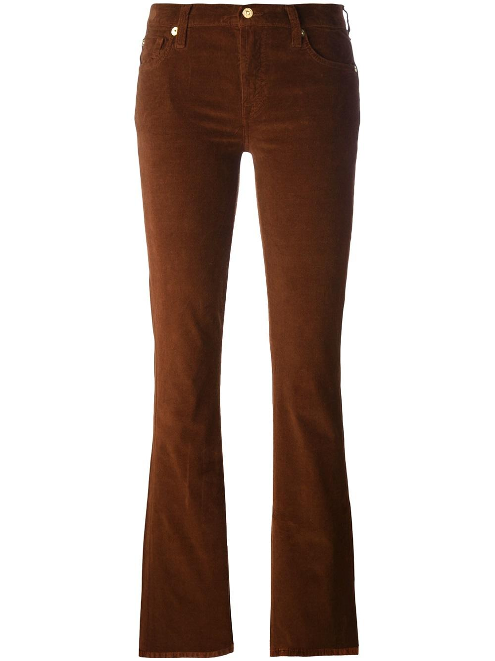 7 For All Mankind Calça flare corduroy